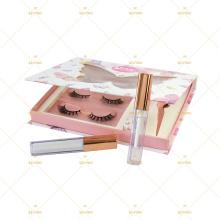 Full Range Eyelash Branding Case Set 2 3 4 5 6 Pairs Lash Set Kit Packaging For Glue 5D Faux Mink Extensions Lash Vendor glue