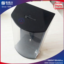 Personalized Clear Customized Printed PMMA Cube Donation Box