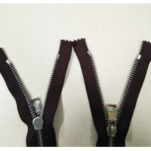Brown Tape Stainless Steel Teeth Zipper Metal