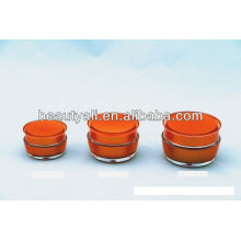 Mushroom Shape Cosmetic Acrylic Cream Jar