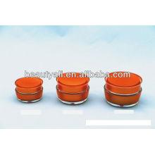 Cogumelo Forma Duplo Parede Acrílico Creme Cosmético Container