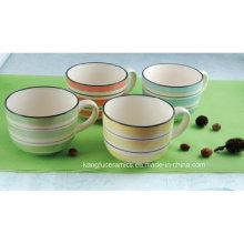 Taza de café de cerámica del precio barato del restaurante