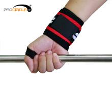 Envoltório feito sob encomenda novo do pulso do treinamento do Gym da aptidão do levantamento de peso