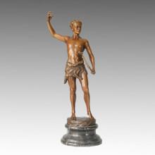 Estatua de los deportes Escultura de bronce del arqueano de la antigüedad, Kucheler TPE-022