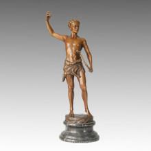 Бронзовая скульптура антикварной скульптуры, статуя Kucheler TPE-022