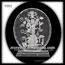 K9 Crystal Disk with Sandblasting Image