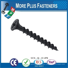 Made in Taiwan customized Flat head Black drywall screw