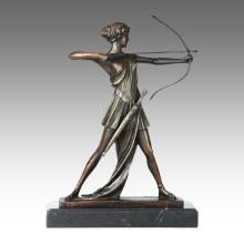 Statue de sport Statue Archey Boy Bronze Sculpture TPE-696