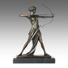 Sports Figure Statue Archey Boy Bronze Sculpture TPE-696