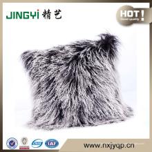 Wholesale tibétain mongol agneau fourrure oreiller