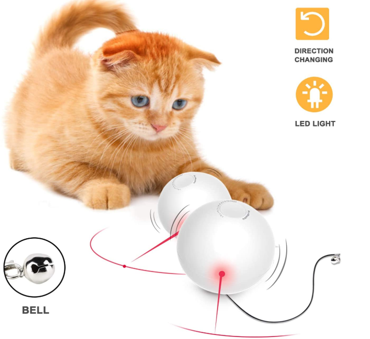Smart Interactive Cat Toy Ball With Bell