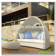 Audu White Rattan Pool Outdoor Sleeper Sofa