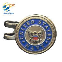 Personalisierte Logo Metall personalisierte Metall magnetische Golf Cap Clip