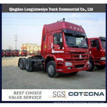 Camión de cabeza caliente del tractor de las ventas HOWO 420HP 6X4