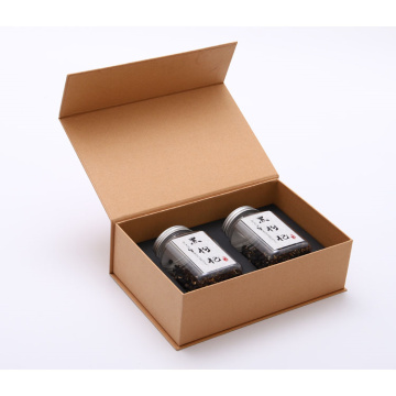 Brown Custom Printed Kraft Tea Paper Gift Box