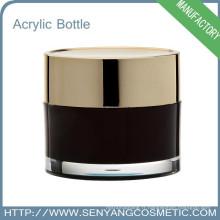Emballage à base de crème cosmétiques à la ronde Emballage en gros Crème acrylique à base de cosmétiques pour crème