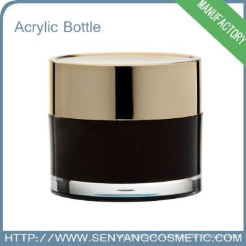 Круглый косметический крем-банку Упаковка Оптовый акриловый косметический фляга для крема