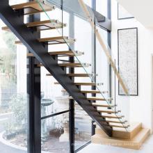 Modern Luxury Fancy Straight Wood Step Staircase