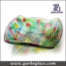 Placa de vidro quadrada decorativa moderna da multi cor (GB1608MG / TS)