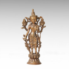 Statue de Bouddha Avalokitesvara / Green Tara Bronze Sculpture Tpfx-075