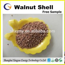 filtre de traitement de l'eau coquille de noix écrasée pour l'adsorption déposée d'huile