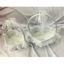Hot Selling satin Paper Wedding Basket Souvenir
