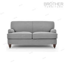 Mobília antiga estilo europeu 2 lugares de tecido sofá da sala de estar