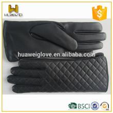 Silk Lining Thin Winter 100% Real Leather Female Sheepskin Gloves