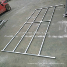 Puerta de tubo de 6 bar para trabajos pesados / caballo y panel de esgrima para ganado / puerta corredera para ganado
