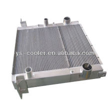supplier of customized and high performance aluminum construction vehicle fin type intercooler
