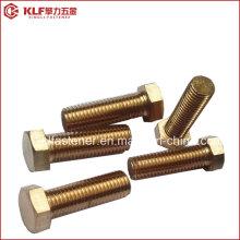 Фосфорная бронза / латунь / медь DIN933 DIN931 Болт с шестигранной головкой