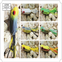 Frog with Skirt Tail Soft Fishing Lure