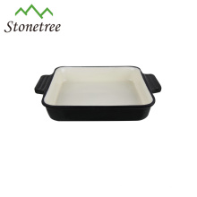 Wholesale Cheap Baguette Enamel Baking Pan Cast Iron Rectangular Dish