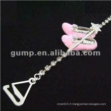 Sangles en cuir de diamant en métal (GBRD0171)