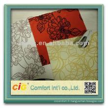 Tissu de mode de marché de textile de floc d'impression de jet de jolie qualité 2014 pour le sofa
