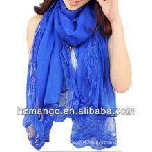 2016 Latest Fashionable Woman Lace chiffon scarf