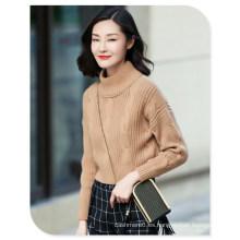 Suéter de punto 3gg Suéter de cachemir puro con cuello redondo y manga larga
