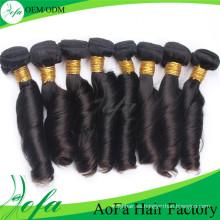 Extensión del pelo humano del pelo de la Virgen del pelo de Remy del precio barato del grado 7A