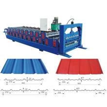 Профилегибочная машина для производства двухслойных кровельных панелей
