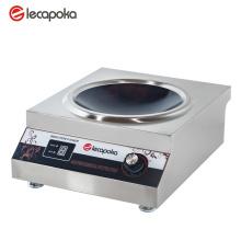 Uso comercial do fogão de indução
