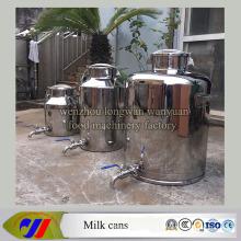 Edelstahl Milchkanne 100 Liter Milch Eimer mit Entladungsventil