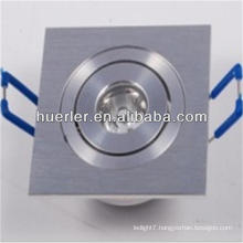 2014 hot sale 1w square recessd flat mount led lights downlight