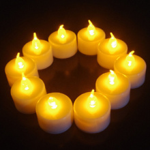 Wedding party yellow light LED tealight candle