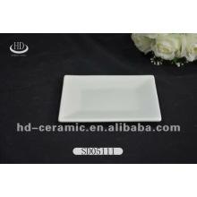 Platos blancos de la porcelana de los niños