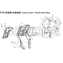 F-05 Front Box Front Box interno XS150T-8 CROX per SYM Spare Part Top Quality