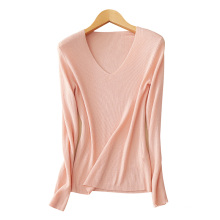 Frauen schließen Pullover Kaschmirpullover V-Ausschnitt 5 Farben bequem dünne Pullover Pullover Kleidung