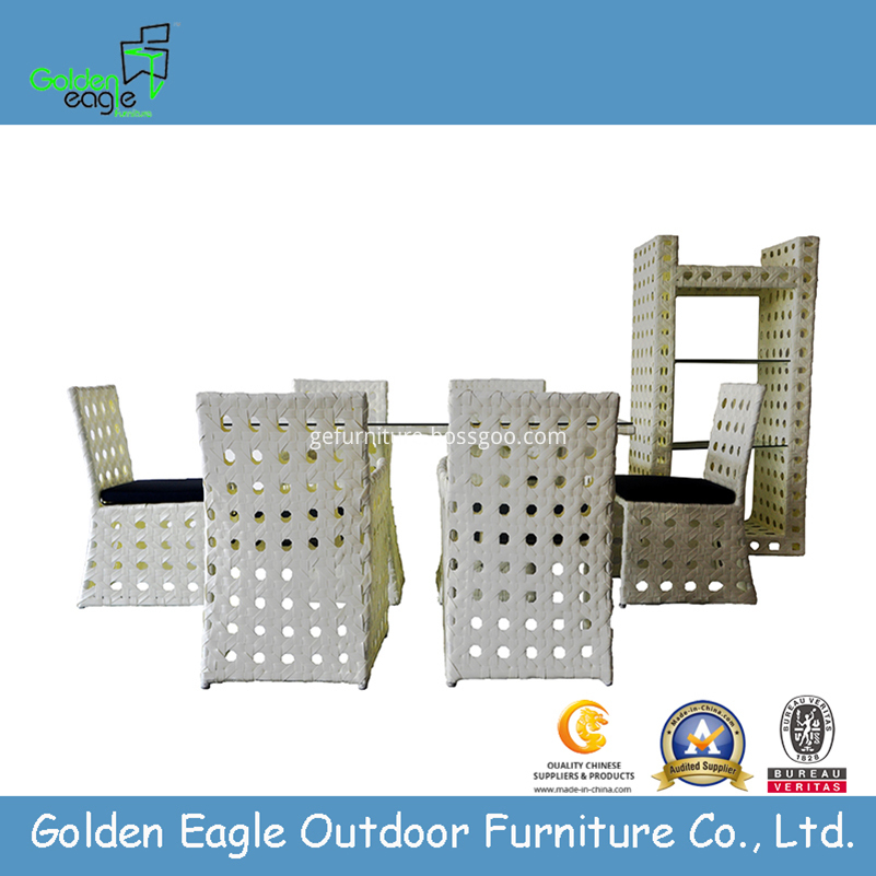 Outdoor PE rattan dining set