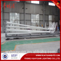 10m custom designer steel street lighting pole with curved arm