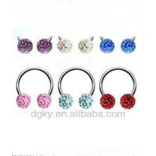 Captive Bead Rings Multi Gem Jewelled Nose Ring