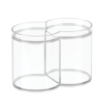 Bathroom Vanity Makeup Cosmetic Storage Canister Container